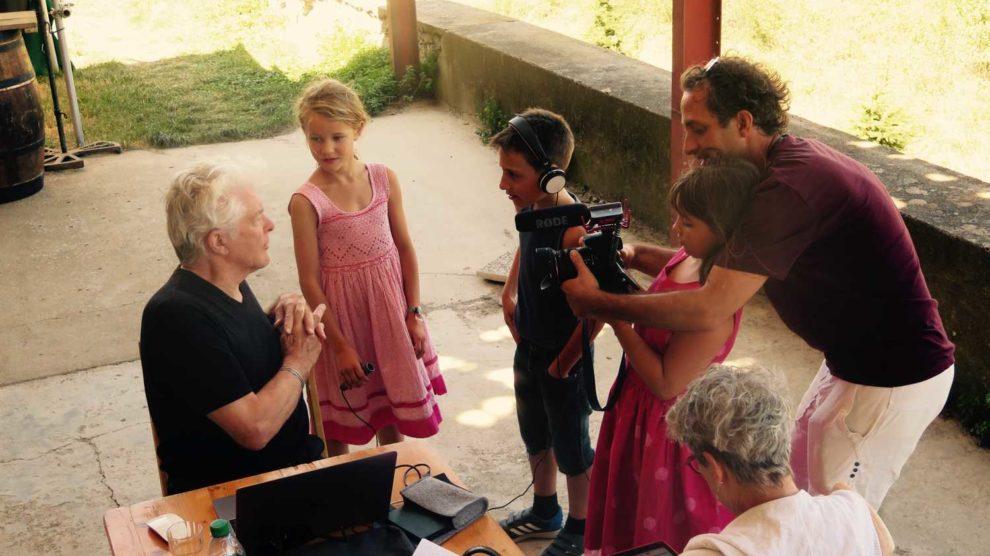 Réalisation d'un film avec les enfants – Davejean – Le Vent d'Août – Corbières