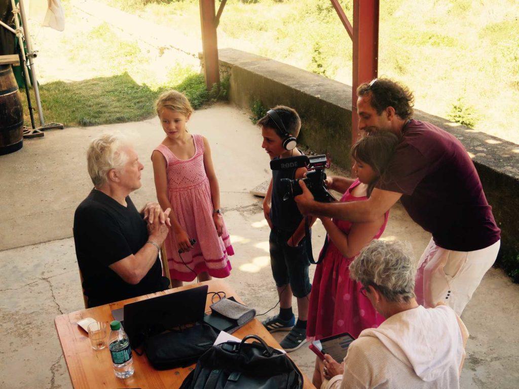 Documentaire avec les enfants chez Bob Morse
